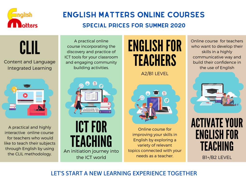 New Enhlish Matters Online courses