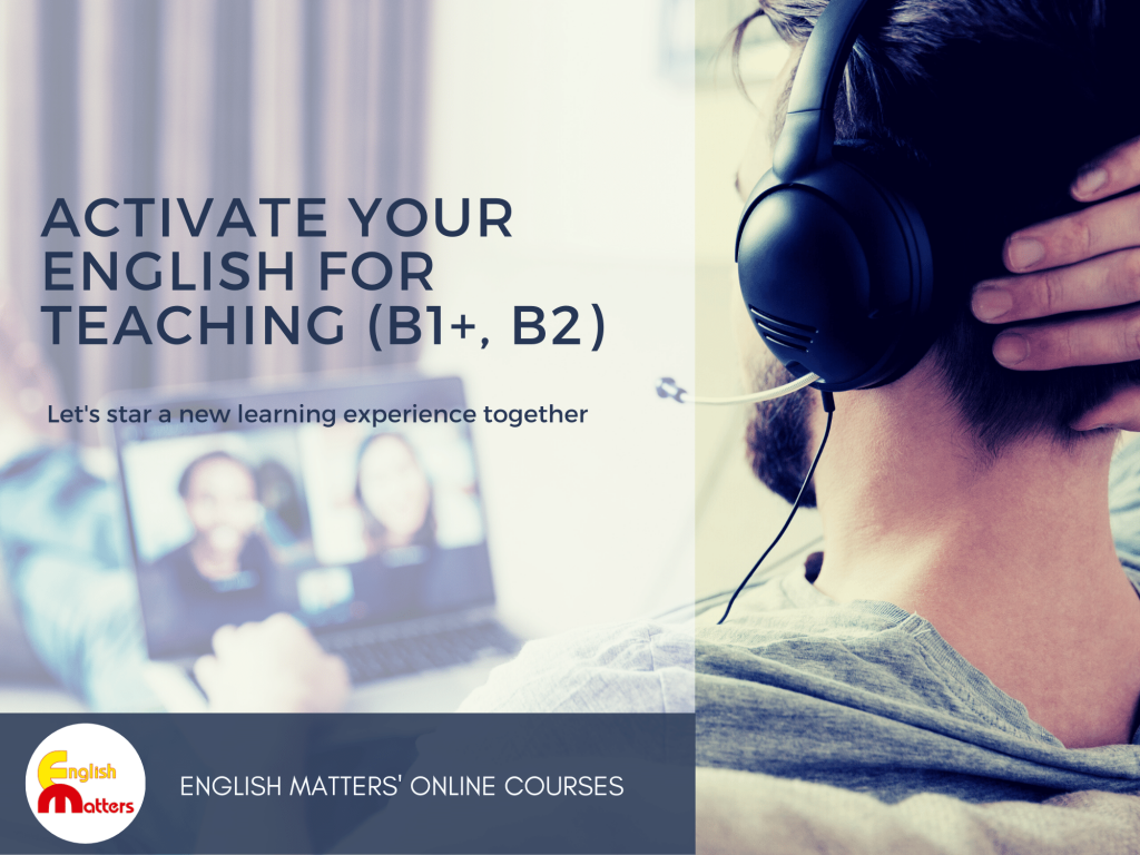 Activate your English for Teaching Online course. Levels B1, B2