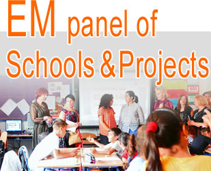 Schools panel: find interesting schools and projects or share your project